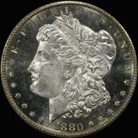 1880-S $1 MS66DMPL PCGS