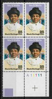 US 1990, Ida B. Wells, Black Heritage, 25c Scott # 2442, Plate Block VF MNH**OG