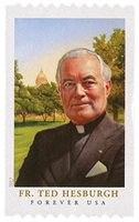 #5242 – 2017 First-Class Forever Stamp - Father Theodore Hesburgh (coil)