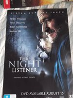THE NIGHT LISTENER 1 SHEET MOVIE PROMOTIONAL POSTER