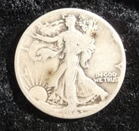1943 Walking Liberty Half Dollar, F-15
