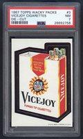1967 Wacky Packs Die Cut #3 Vicejoy Cigarettes PSA 7