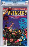 1977 Avengers ANNUAL 7 CGC 9.6! WHITE PGS! Death of Adam Warlock! Thnaos