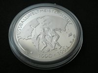 Germany, silver ounce, Football World Cup - 1994; proof, England 1966, soccer
