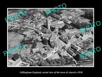 OLD 8x6 HISTORIC PHOTO OF GILLINGHAM ENGLAND VIEW OF TOWN & CHURCH c1930