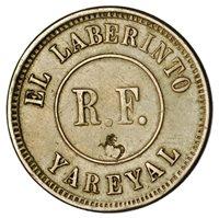 1890s Cuba Sugar Factory Ingenio El Laberinto Medio Jornal Token