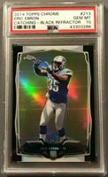 2014 Topps Chrome Eric Ebron #213 Black Refractor RC Rookie /299 PSA 10 POP 1/1