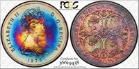 1976 TURKS & CAICOS IS. 20 CROWNS PCGS MS68 COLOR TONED ONLY 1 GRADED HIGHER