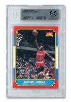 1986 FLEER #57 MICHAEL JORDAN ROOKIE - BGS NM-MT+ 8.5