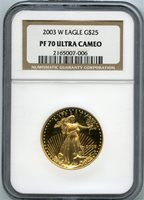2003-W $25 gold eagle ngc pf70