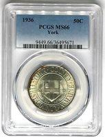 1936 York PCGS MS66 ~ Commemorative Half Dollar 50c (36495671)