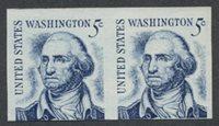United StatesScott #1304b (2012 Scott Value $125.00), Unused, NH, Fine. 5c Washington (#1304b) imperf coil pair.Stamp #23667 | Price: $90.00Add To Cart