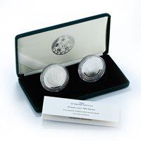 Turkmenistan 2 coins 500 manat President Birthday, Anniversary Independence 2001