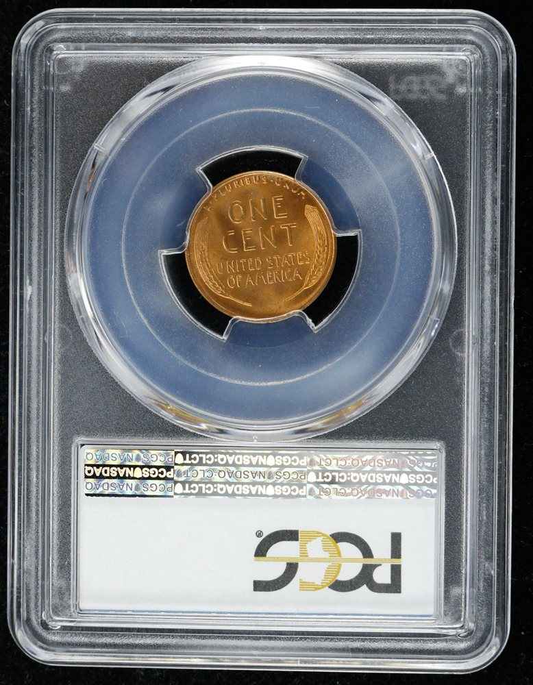 1945 D LINCOLN WHEAT CENT PENNY PCGS CERTIFIED MS 66 RD RED