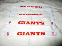 TWO (2) SAN FRANCISCO GIANTS EMBOSSED LICENSE PLATE FRAMES #2 - NEW