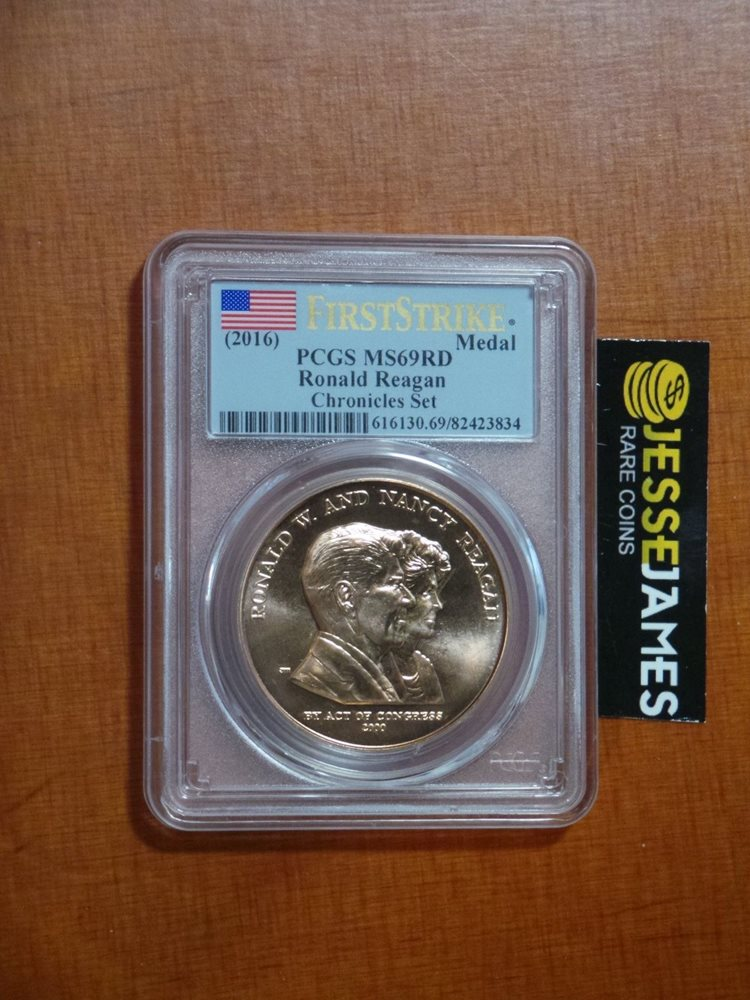 2016 NGC MS69 RD ER RONALD NANCY REAGAN BRONZE MEDAL FROM COIN /& CHRONICLES SET