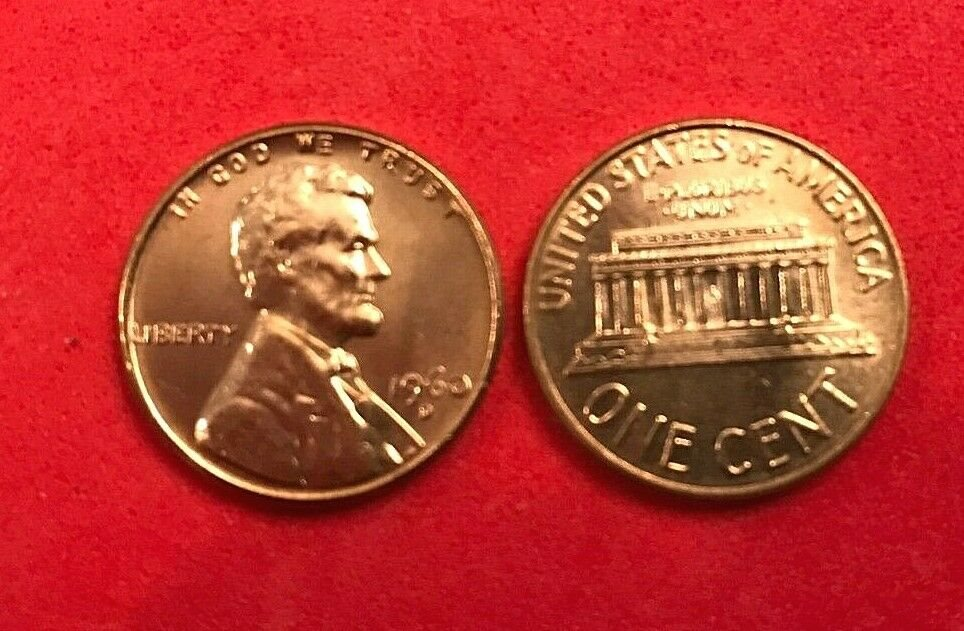 1960 Lincoln Cent 1C PCGS MS66RD Large Date
