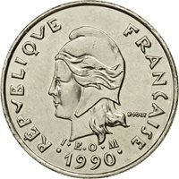 Coin, New Caledonia, 10 Francs, 1990, Paris, MS(60-62), Nickel, KM:11