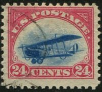 U.S. #C3 24c Biplane, Red/Blue Used