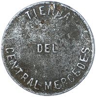 Cuba Mercedes Sugar Factory 50 Cents Token 1880s