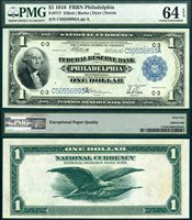 US Currency 1918 $1 Federal Reserve Bank Note S/N C50556893A