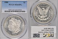 1880 MS65 PL PCGS $1