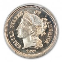 1872 3CN Three Cent Nickel PCGS PR66CAM