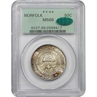 1936 Norfolk 50¢MS66 [PCGS OGH]
