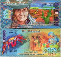 Bank of the Equatorial Territories - ISABELA Island - 10 Equatorial Francs - 2014 - POLYMER - Fantasy Issue