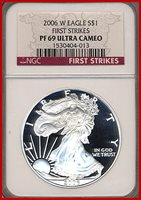 2006-W NGC PF69 Ultra Cameo First Strike Silver Eagle