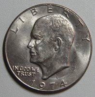 1974 D Eisenhower Dollar BU