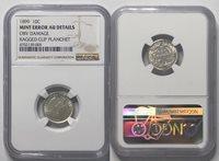 1899 10¢ Barber Dime NGC Mint Errors AU Details