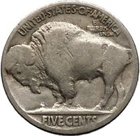 1926 BUFFALO NICKEL 5 Cents of United States of America USA Antique Coin i43684