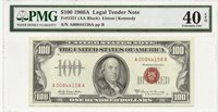 1966-A $100 RED SEAL LEGAL TENDER NOTE ~ BRIGHT & FRESH PMG EXTRA FINE 40 EPQ