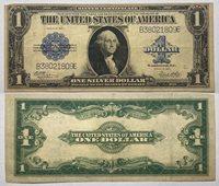 1923 $1 Large Silver Certificate Serial # B38021809E