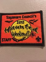 SAGAMORE COUNCIL 2013 Haunted Weekend Staff Patch