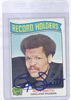 Ron Smith 1975 Topps #356 Oakland Raiders Autographed Signed Football Card DECEASED