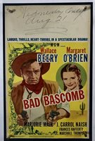 BAD BASCOMB Movie Poster (VeryGood) Window Card 1946 Cowboy Western WC001R