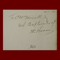 Herbert Hoover, Agricola, 1912 ed., Signed and Inscribed