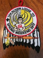 OA TAKACHSIN LODGE 173 2017 Spring Weekend Patch SAGAMORE COUNCIL