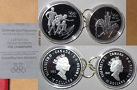 1996 CANADA OLYMPIC GAMES 100th $15 Proof 2 silver coins with COA