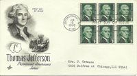 1968 JEFFERSONVILLE INDIANA Thomas Jefferson Prominent Americans Series Cover