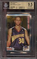 2009 10 Panini Stickers 263 Stephen Curry Rookie Card Bgs 95 95 95 95 9 Graded Card