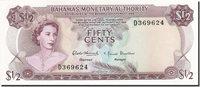1/2 Dollar Bahamas Banknote, 1968, Km:26a