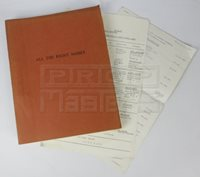 ALL THE RIGHT NOISES (1971) Script & Paperwork
