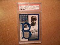 2001 Upper Deck Game Jersey - Jackie Robinson Baseball Card #J - PSA NM-MT 8