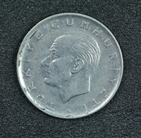 1972 TURKEY ONE LIRA, VF