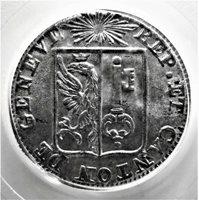 SWITZ.GENEVA 1833 UN SOL.PCGS MS 66 GEM PLUS