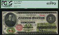 1862 $1 Legal Tender FR-17a Graded PCGS 61PPQ New