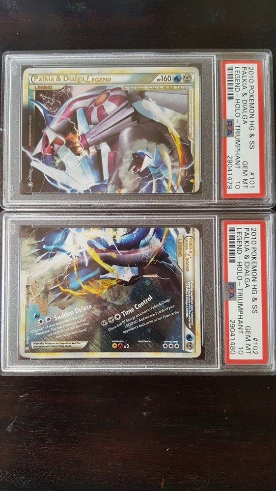 Pokémon PSA 10 GEM MINT Palkia & Dialga LEGEND Triumphant Pokemon Card 101/102       B43 Verzamelingen